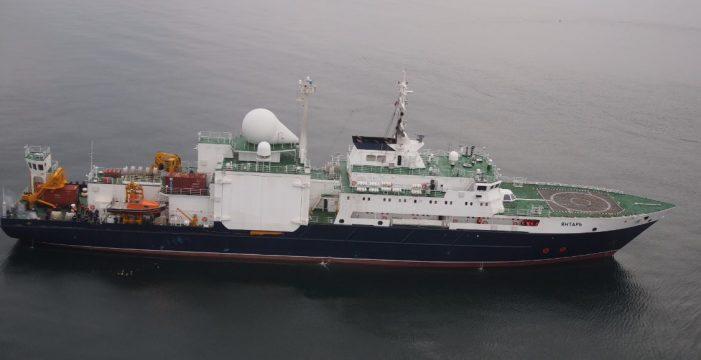 Un buque espía ruso fue detectado hace unos meses en la zona del telurio