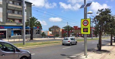 Instalan en Aguere los primeros radares preventivos de velocidad
