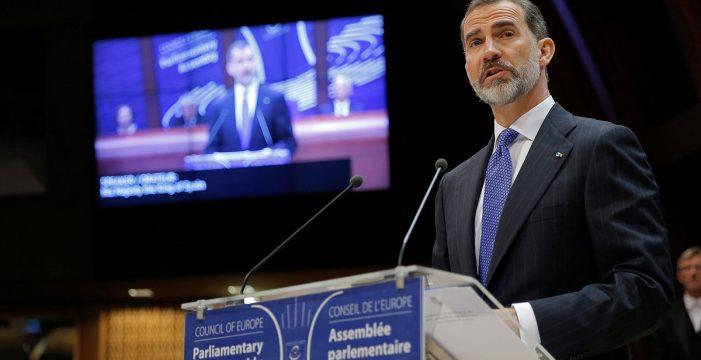 """El rey presenta a España en el Consejo de Europa como un país """"unido y plural"""""""
