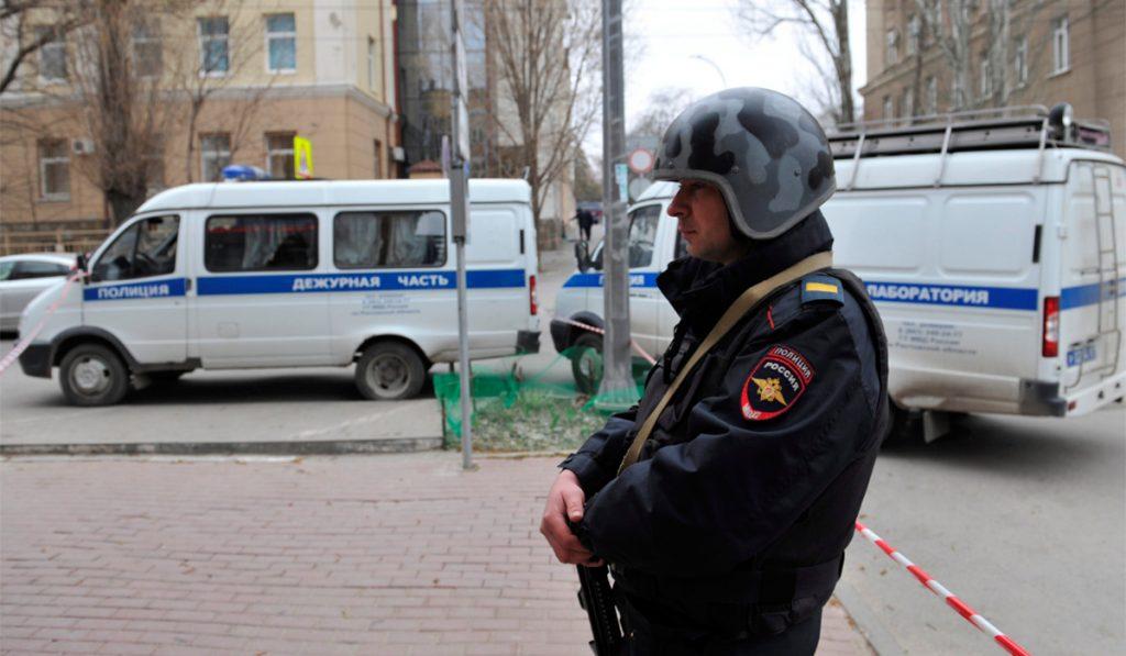 RUSIA POLICÍA EXPLOSIVO