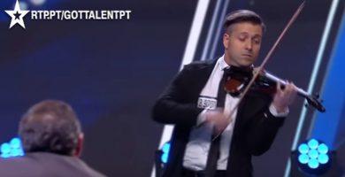 Un violinista canario se luce en Got Talent Portugal