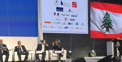 Tarek William Saab fue interrumpido durante conferencia en el Líbano