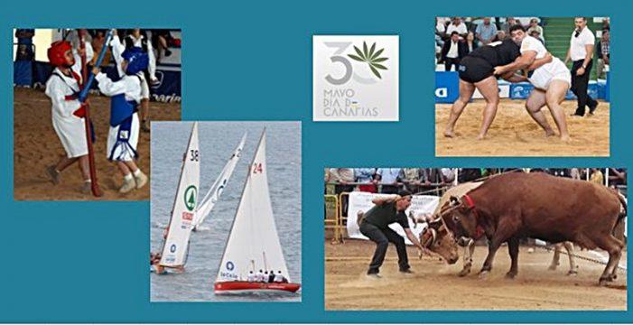 Luchada, Vela Latina, Arrastre de Ganado y Garrote centran el programa deportivo del Día de Canarias