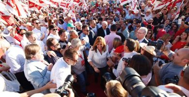 Susana Díaz, candidata a la Secretaría General del PSOE. EUROPA PRESS