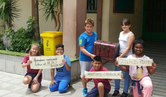 Alumnos de Las Galletas idean un baúl ecológico