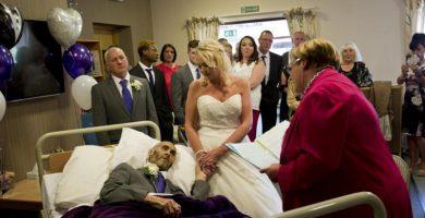 Un hombre con cáncer terminal cumple su sueño y se casa
