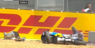 El piloto Jack Miller, ileso tras un escalofriante accidente en MotoGP