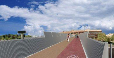 Imagen del carril bici en la pasarela sobre la M-503, en Pozuelo (Madrid). DA