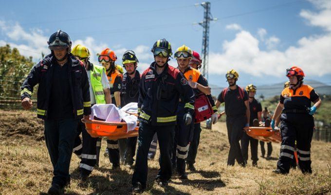 Más de 130 efectivos de seguridad 'simulan' un rescate a dos heridos