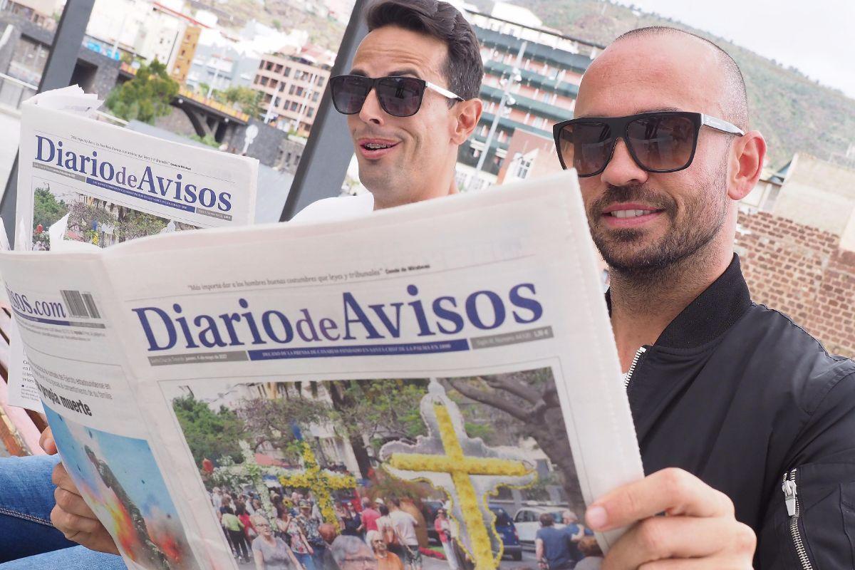 Rudy y Ruymán visitan Diario de Avisos | FOTO: Sergio Méndez