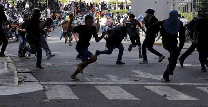 Dos policías heridos tras una potente explosión en Caracas