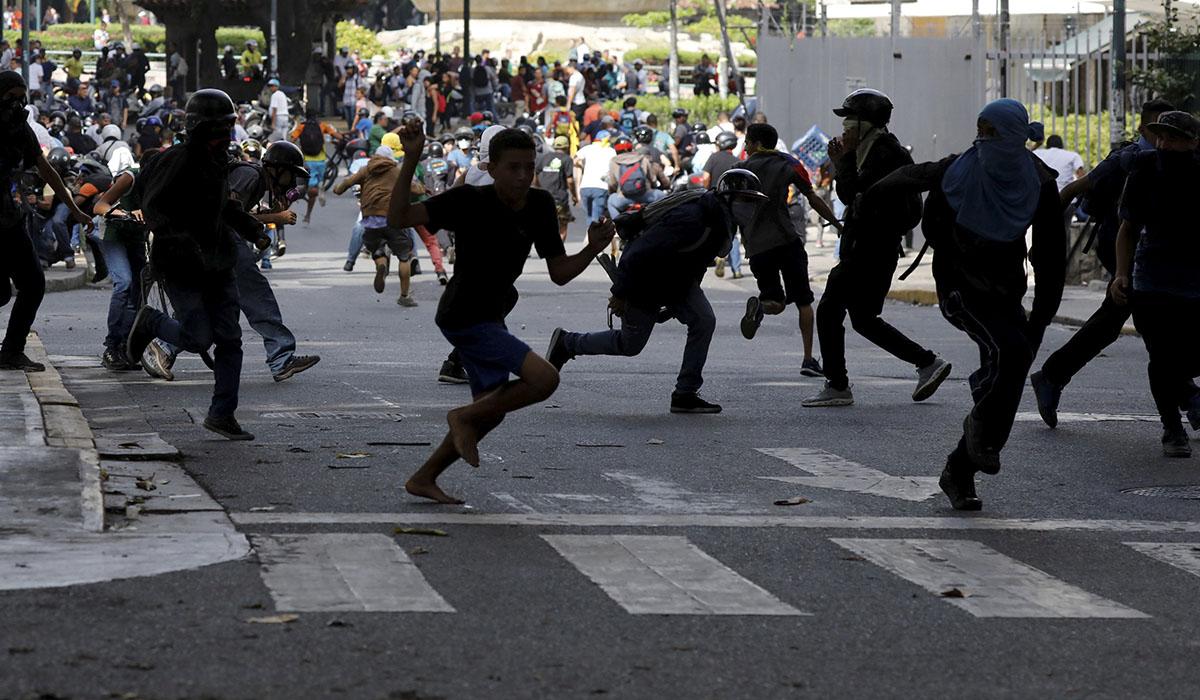Protestas en Venezuela. REUTERS/Carlos Garcia