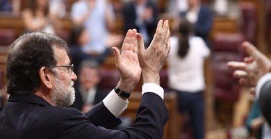 Mariano Rajoy en el Congreso de los Diputados tras finalizar la votación de la moción de censura | EUROPA PRESS
