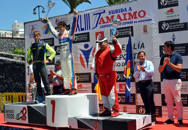 Podio Categoria 1 Javier Villa Manuel Aviles y Guillermo Evora