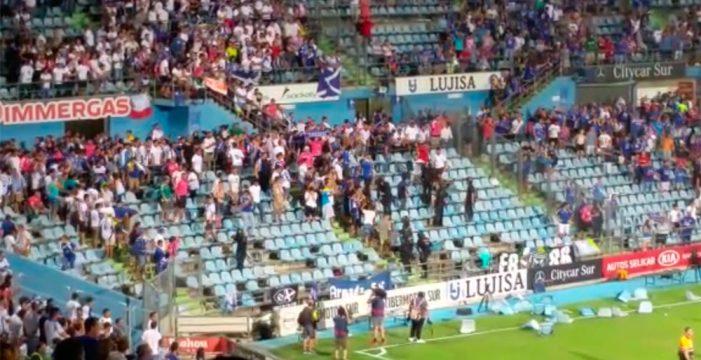 Carga policial contra los hinchas del Tenerife al finalizar el partido