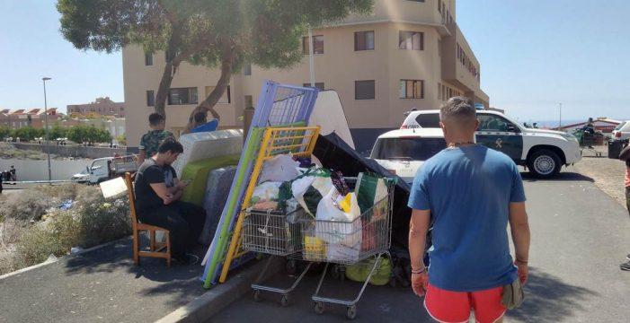 Desalojan por orden judicial 41 viviendas de un edificio en Granadilla