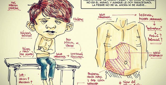 Augusto Saldaña, el médico que usa sus dibujos para que el paciente entienda mejor su enfermedad