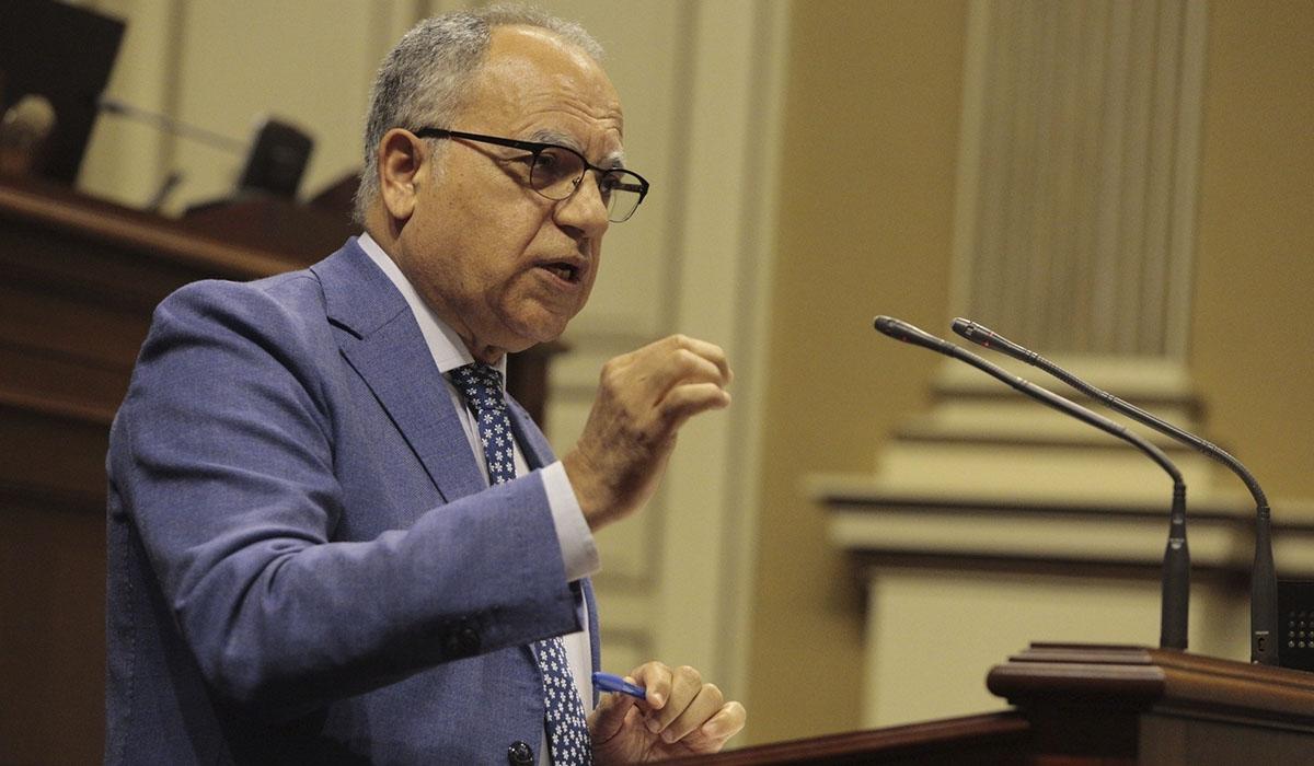 Casimiro Curbelo, portavoz de Agrupación Socialista Gomera (ASG) en el Parlamento de Canarias. EUROPA PRESS
