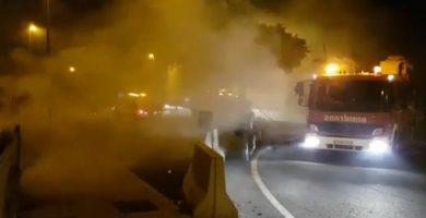 Al menos ocho intervenciones de los bomberos en las hogueras de San Juan