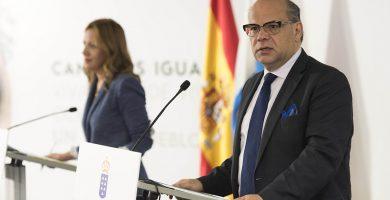 El consejero de Presidencia, José Miguel Barragán, en rueda de prensa. DA