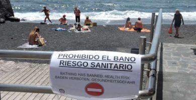 Candelaria mantiene cerradas cuatro de sus playas y vuelve a prohibirse el baño en El Médano