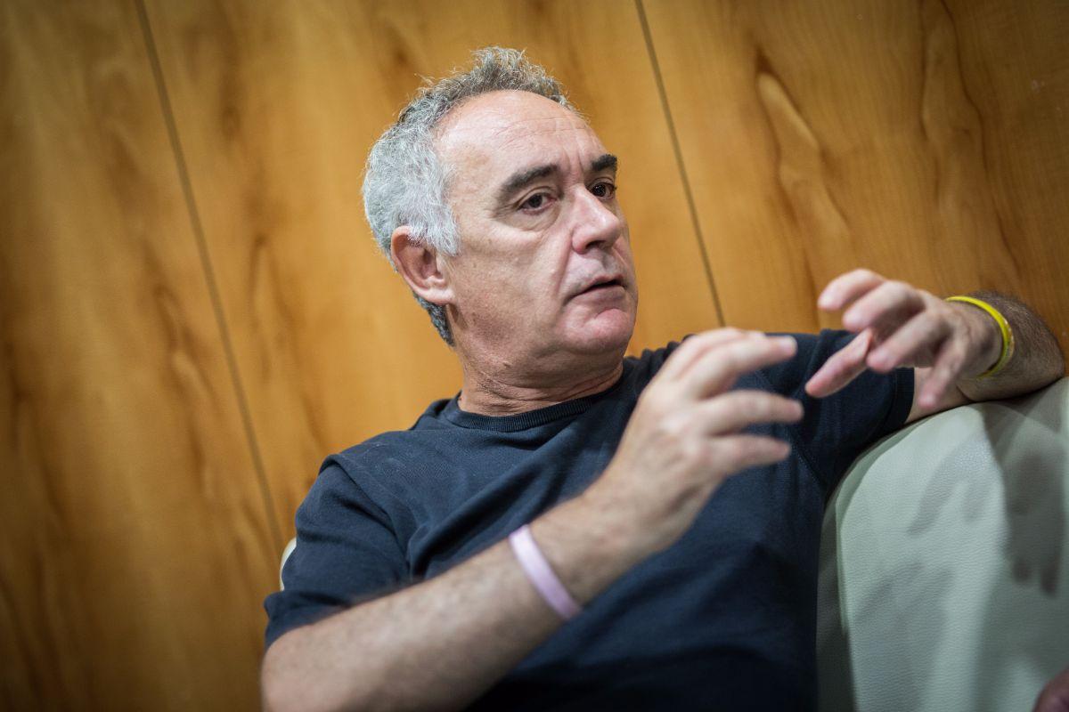 Ferrán Adrià durante la entrevista que concedió a DIARIO DE AVISOS   ANDRÉS GUTIÉRREZ