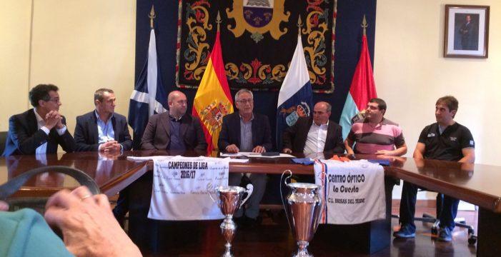 El Fasnia Brisas, campeón de Liga y Copa de Tercera, recibido en el Ayuntamiento de Fasnia