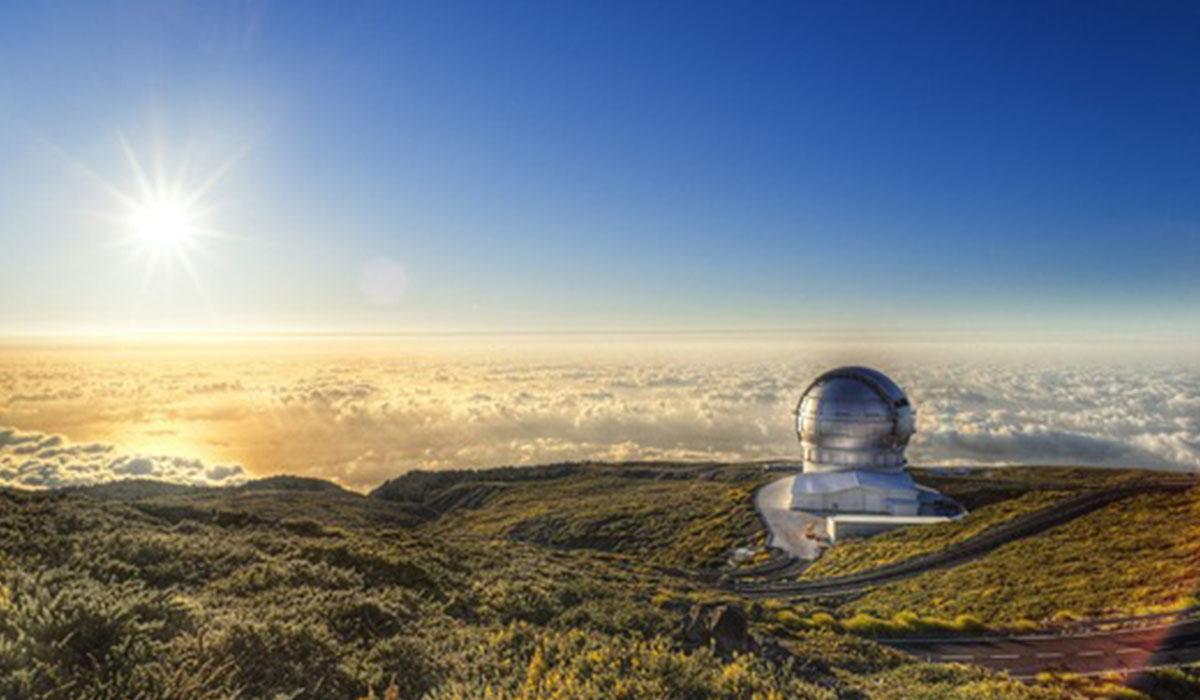 Imagen del Gran Telescopio de Canarias en el Roque de Los Muchachos. DA