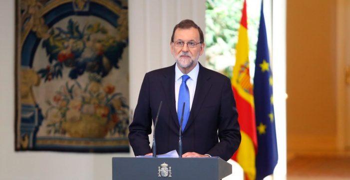 """Rajoy a la Generalitat: """"Están a tiempo de evitar males mayores"""""""