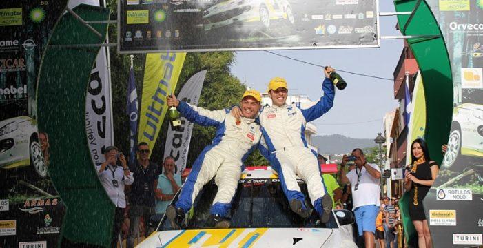 Enrique Cruz y Yeray Mujica ganan el Rally Senderos de La Palma
