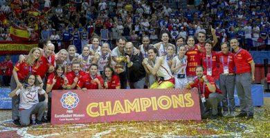 Seleccion femenina españa campeona de Europa