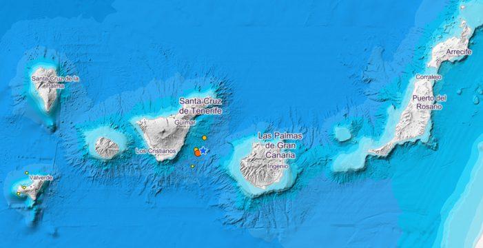Tres terremotos frente a Tenerife, uno de ellos bastante fuerte