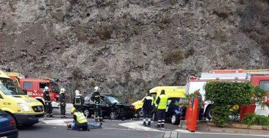Fallece una joven de 20 años tras una colisión frontal en Los Realejos