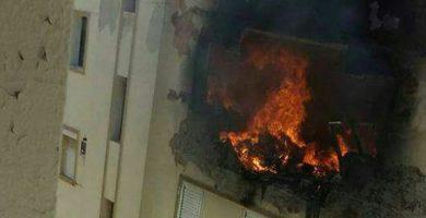 Fallece una mujer tras la explosión e incendio que arrasó su piso