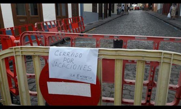 Discordia por el cierre temporal de una calle para la colocación de un arco de La Bajada