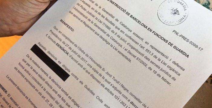 El Govern denuncia a la Guardia Civil