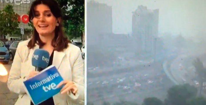 """""""Lo he hecho mal, joder"""": el pánico en directo de una reportera de TVE"""