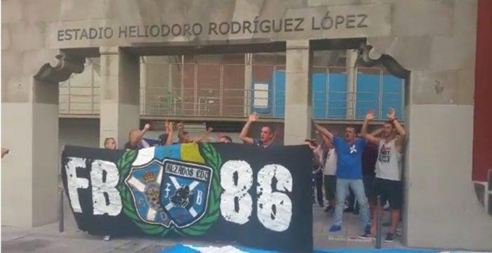 """El Frente Blanquiazul gritó: """"Jugadores sí, directiva no"""""""