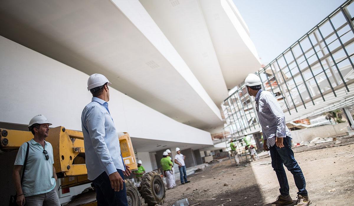 La estructura presenta hasta 20 metros de vuelo sin pilares. Andrés Gutiérrez
