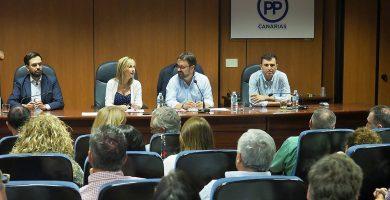 """El PP descarta """"totalmente"""" dar apoyo estable al Gobierno de CC en el Parlamento"""