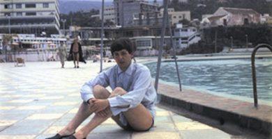 Paul en el Puerto de la Cruz durante su visita a Tenerife