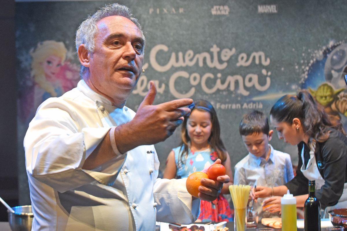 Más de 200 niños disfrutaron junto a Ferran Adrià de una jornada culinaria   FOTO: Sergio Méndez
