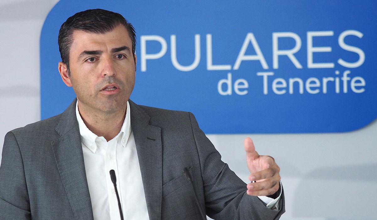 Manuel Domínguez, presidente del Partido Popular de Tenerife. Sergio Méndez