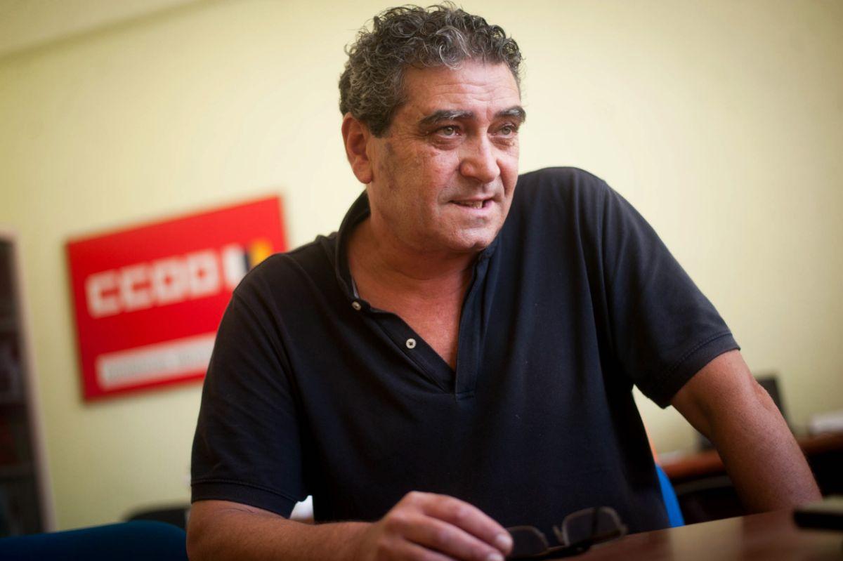 Inocencio González, secretario general de Comisiones Obreras en Canarias. / FRAN PALLERO