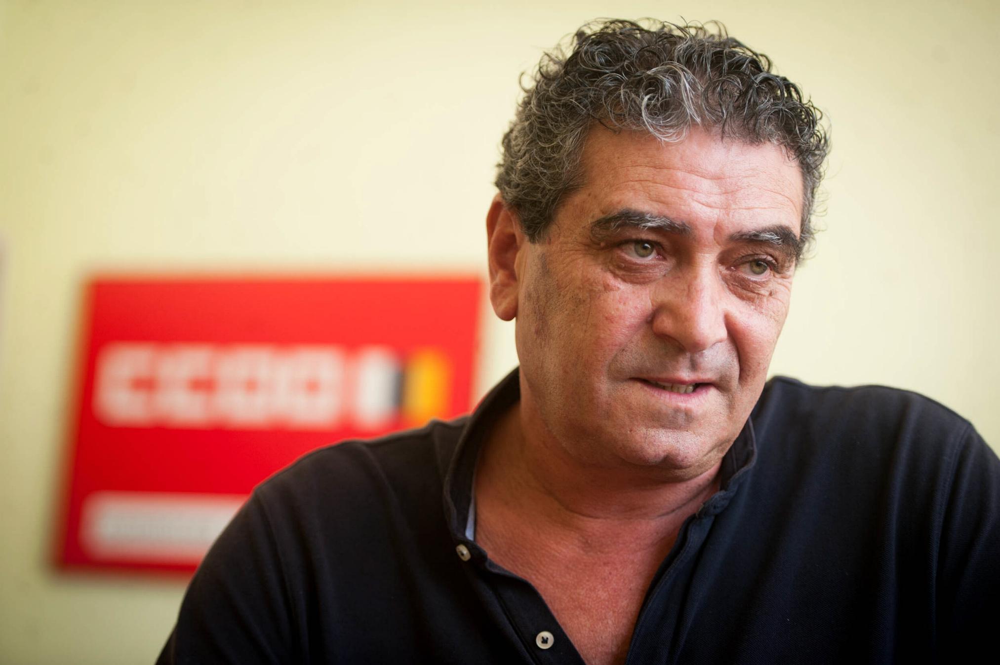 Inocencio González, secretario general de CC.OO. en Canarias. / FRAN PALLERO