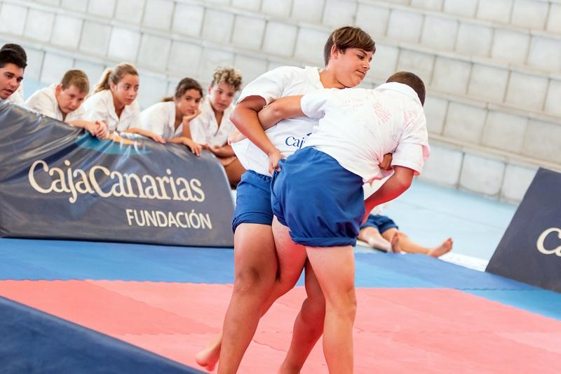 VIII Campus Lucha Canaria Fundación  CajaCanarias. | Aarón S. Ramos/CajaCanarias