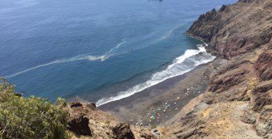 Un cinturón de microalgas 'cerca' la playa de Las Gaviotas