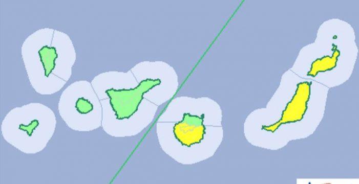 Aviso amarillo por altas temperaturas el domingo en las islas orientales