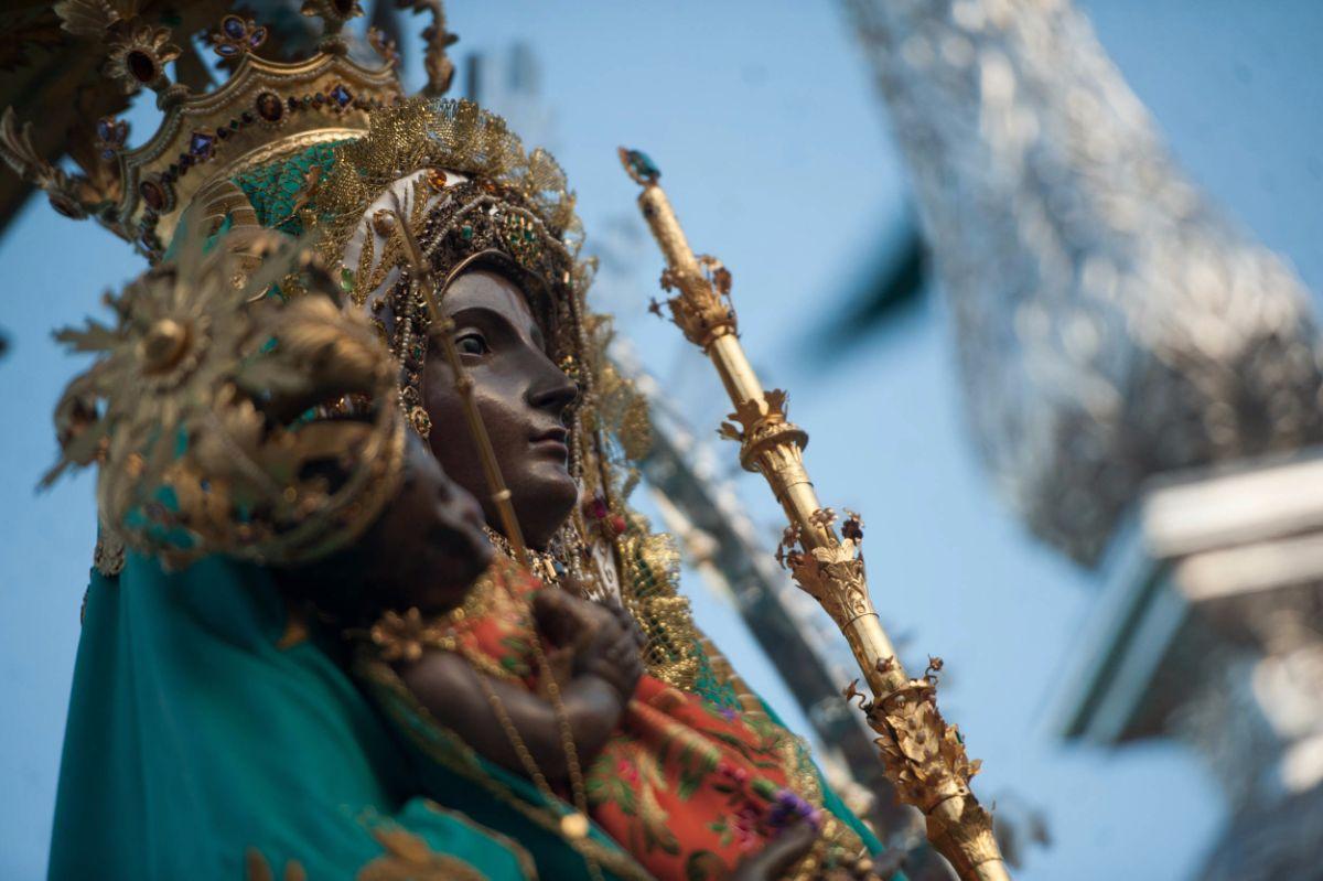 La procesión partió nada más acabar la Ceremonia de los Guanches. F. Pallero