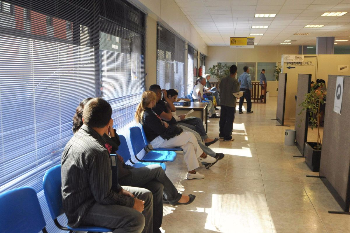 Imagen de una oficina de empleo en La Laguna. J. G.